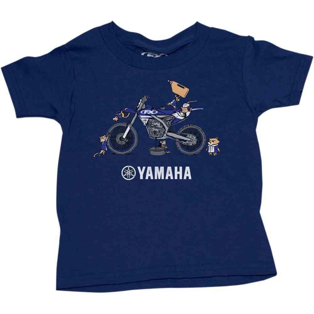 Factory Effex Yamaha Pit Crew Toddler Tees Kids Crew Short Sleeve T-Shirts