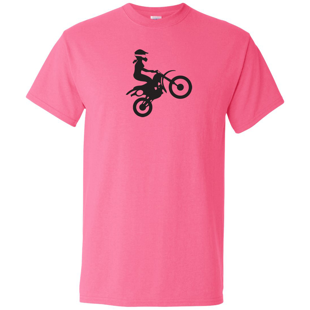 Girl Motocross Mens Tees Dirt Bike Guys Off Road Graphic Casual T