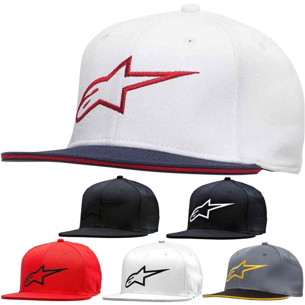 Alpinestars Ageless Flatbill Mens Motorcycle Street Caps Flexfit