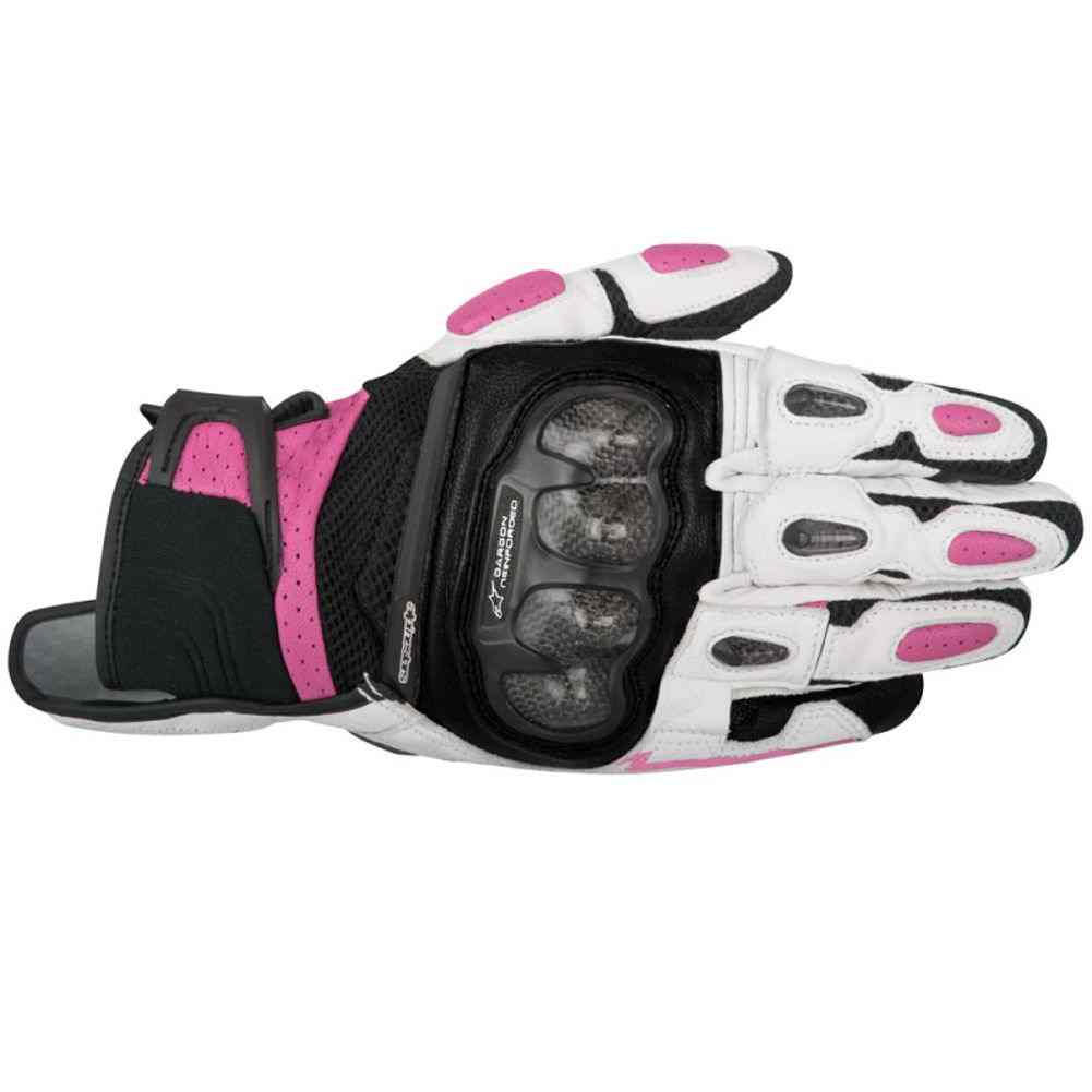 Womens leather motorcycle riding gloves - Alpinestars Stella Spx Air Carbon Womens Leather Street