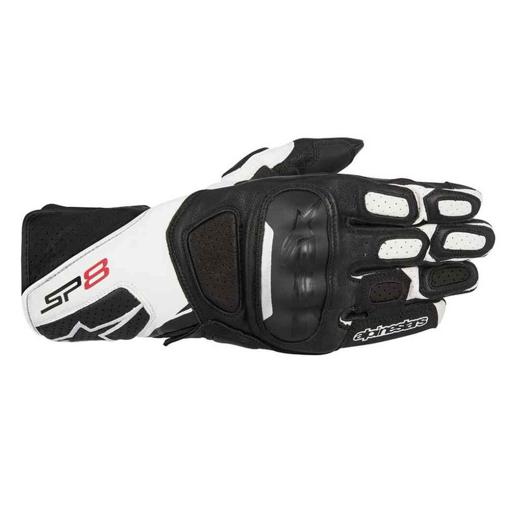 Sport Motorcycle Gloves: Alpinestars Racing SP-8 V2 Mens Leather Road Sport Track