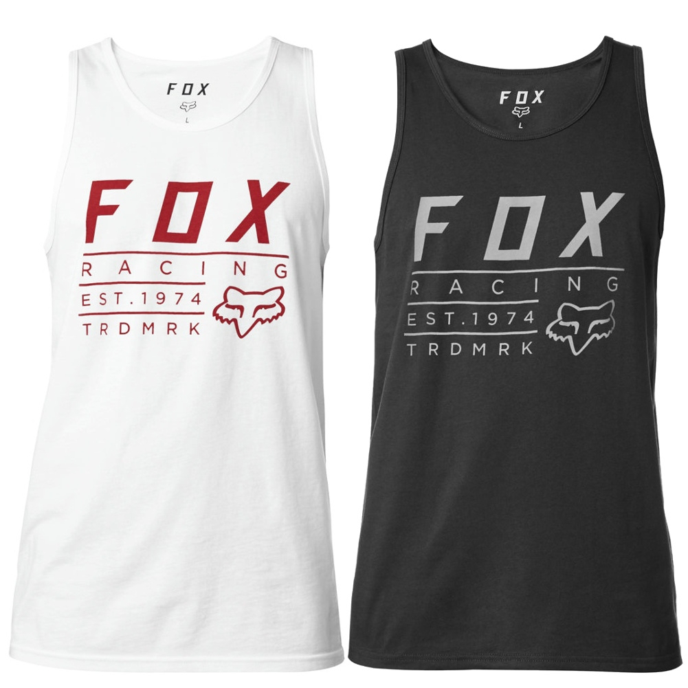 82efe1afd3148 Details about Fox Racing Trdmrk Mens Sleeveless Motocross Premium Tank Tops