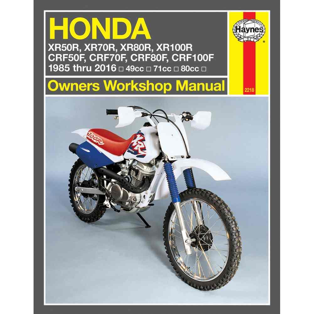 Haynes | Manual Honda Xr80R/Xr100R | 2218. SKU: PHM2218 Brand: Haynes