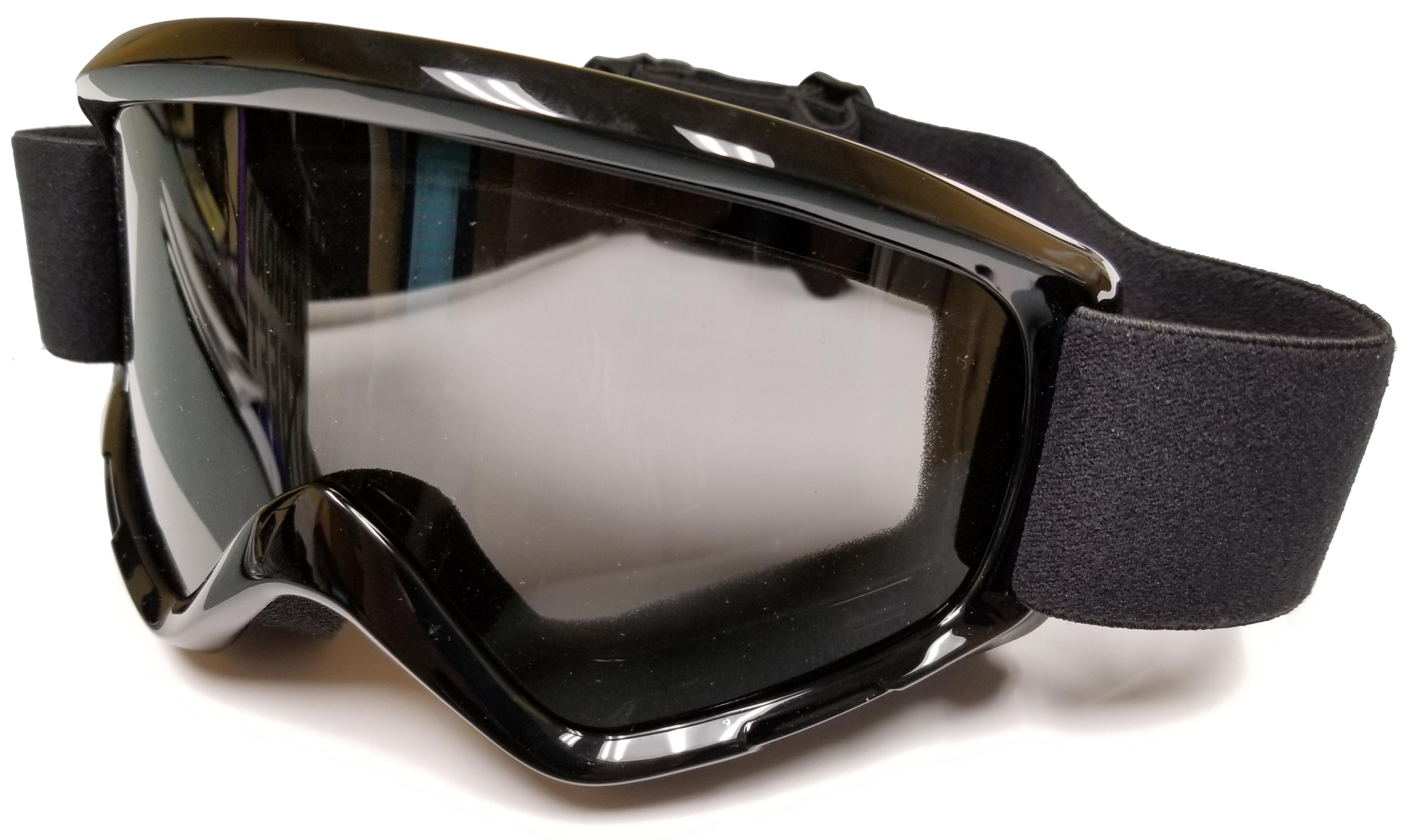 Black Motocross Goggles