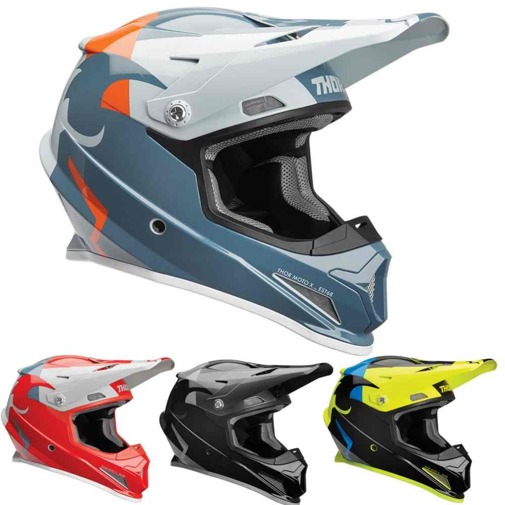 Thor MX Helmet Sector Ricochet Dirt Bike Motocross MX Offroad DOT ECE APPROVED