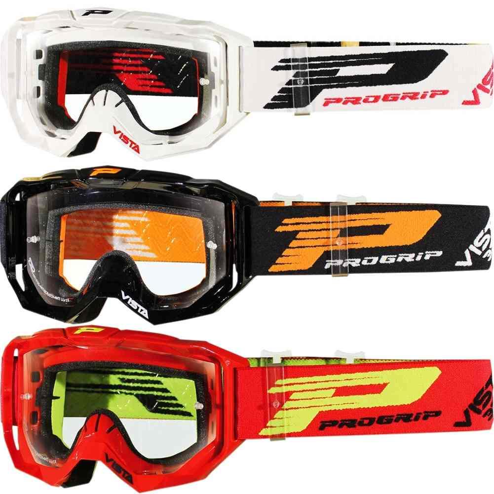 ProGrip Mx 3303 Vista White Clear Motocross Dirt Bike Goggles