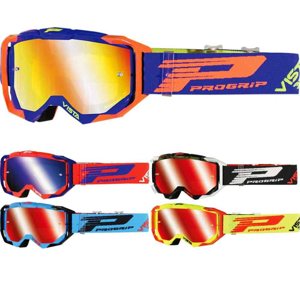 Pro Grip 3303 Vista MX Goggles w//Clear Lens Red