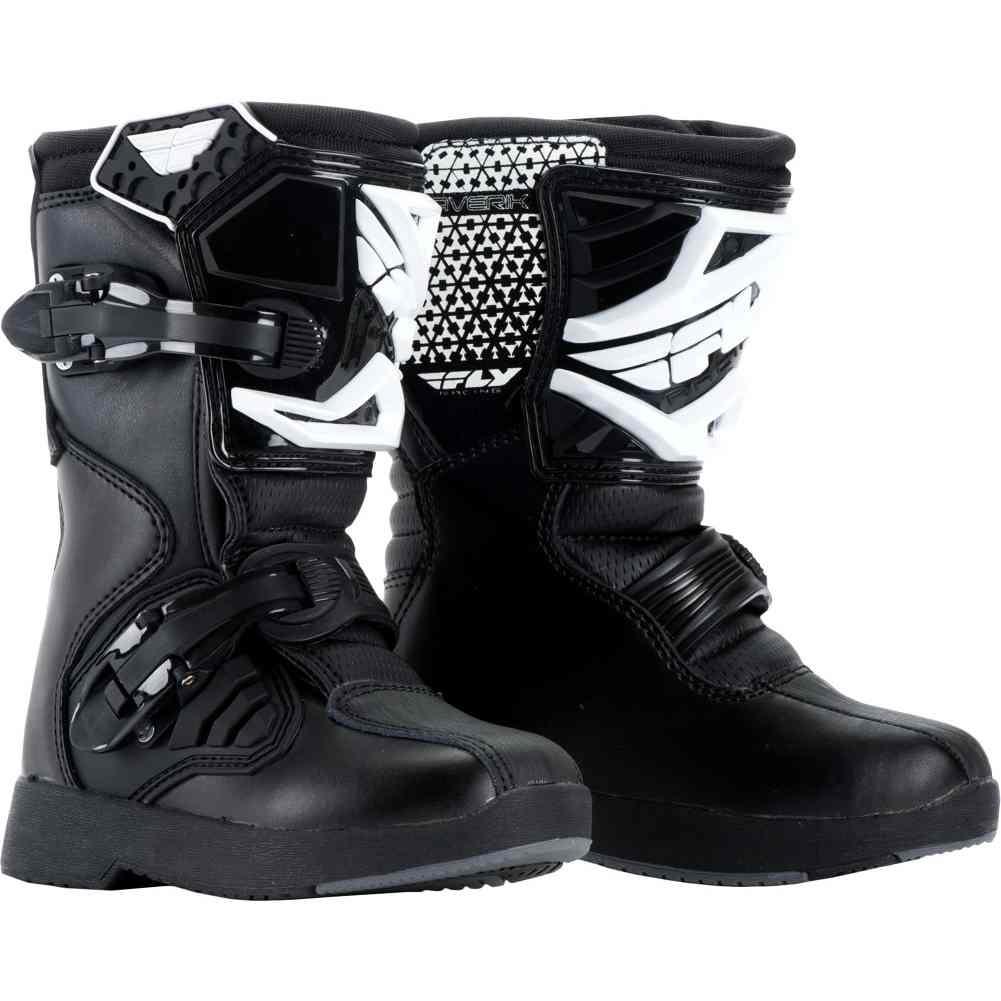 Fly Racing Unisex Youth Maverik Mini MX Boots Black, Size 11
