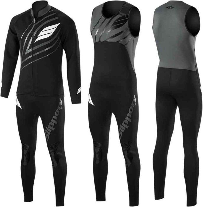 Slippery Breaker Mens John /& Jacket Wetsuit Charcoal//Black