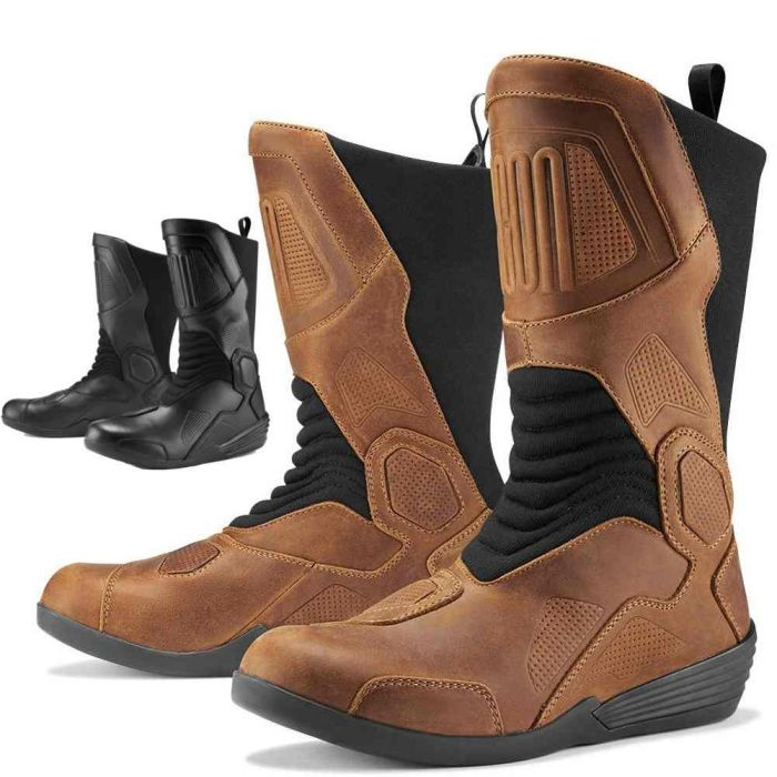 *SHIPS SAME DAY* ICON 1000 Joker WP Boot Motorcycle Boots Brown or Black