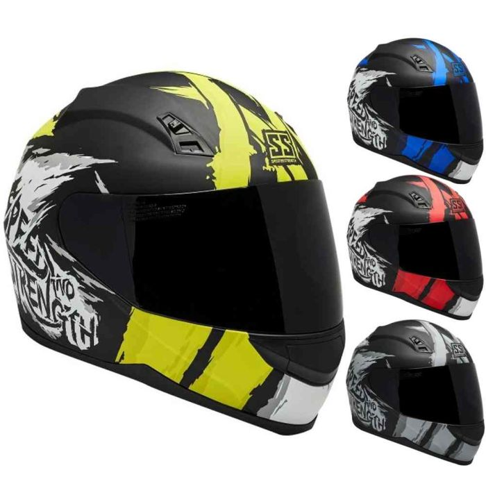 Speed and Strength SS700 War Path Full Face Helmet w// Clear Shield
